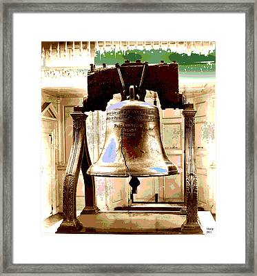 Let Freedom Ring Framed Print