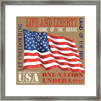 Let Freedom Ring Framed Print by Debbie DeWitt