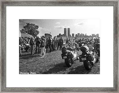 Let Freedom Roar Framed Print by Paula Reardon