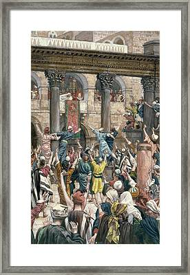 Let Him Be Crucified Framed Print