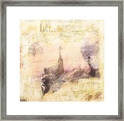 Framed Print featuring the painting Let It Be by Geraldine Gracia