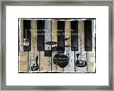 Let It Be Framed Print by Michael Damiani