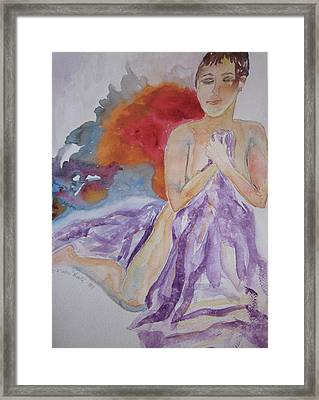 Framed Print featuring the painting Let It Burn by Beverley Harper Tinsley