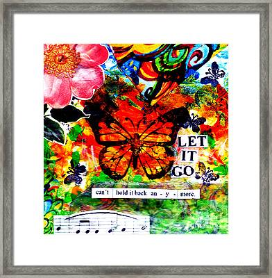 Framed Print featuring the mixed media Let It Go by Genevieve Esson