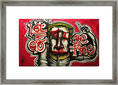 Let It Go Framed Print by Wall  Street