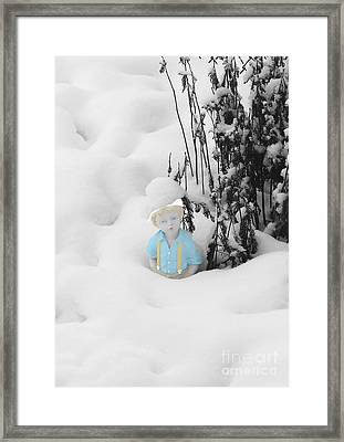 Let It Snow Framed Print by Al Bourassa