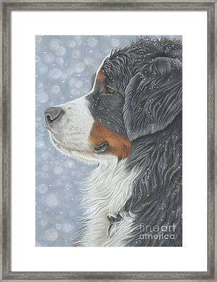 Framed Print featuring the painting Let It Snow by Donna Mulley