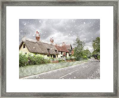 Let It Snow - Essex Country Roads Framed Print by Gill Billington