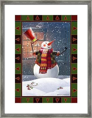 Let It Snow Framed Print by Kristina Vardazaryan