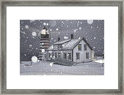 Let It Snow Let It Snow Let It Snow Framed Print by Marty Saccone