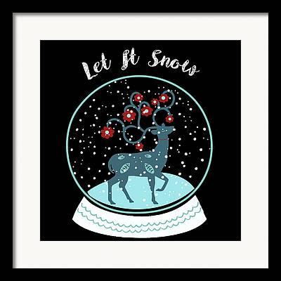 Snow Flakes Framed Prints