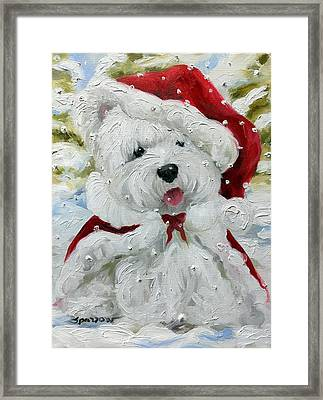 Let It Snow Framed Print by Mary Sparrow