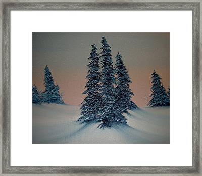 Let It Snow Framed Print by Rani Mullane