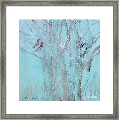 Framed Print featuring the painting Let It Snow by Robin Maria Pedrero