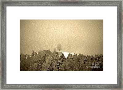 Let It Snow - Winter In Switzerland Framed Print by Susanne Van Hulst