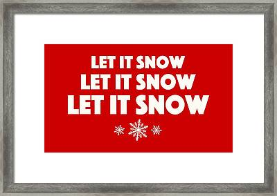 Let It Snow With Snowflakes Framed Print by Heidi Hermes