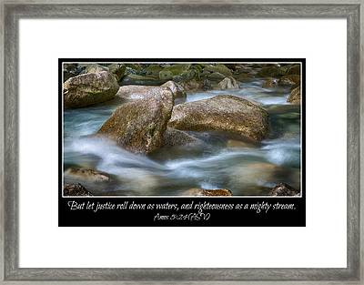 Let Justice Roll As Waters Framed Print