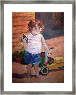 Let Me Call Papa Framed Print by Irina Sztukowski