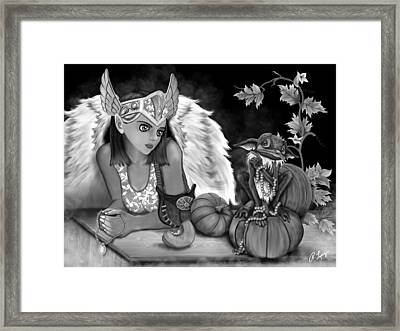 Let Me Explain - Black And White Fantasy Art Framed Print