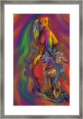 Framed Print featuring the digital art Let Me Go Wip by Karen Musick