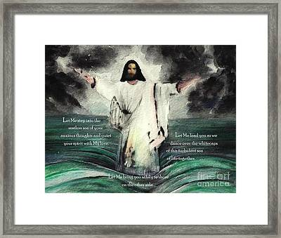 Let Me Quiet Your Spirit With My Love Framed Print by Hazel Holland