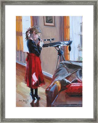 Let Me See Framed Print by Laura Lee Zanghetti