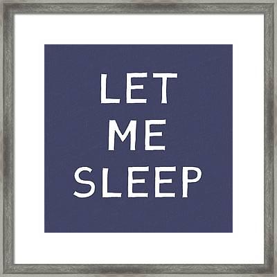 Let Me Sleep Blue- Art By Linda Woods Framed Print