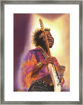 Jimi Hendrix Let Me Stand Next To  Your Fire Framed Print