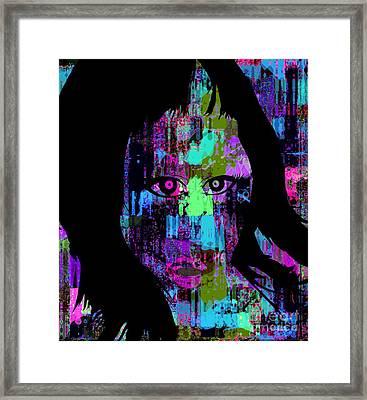 Let My Eyes Speak For Me Framed Print by Fania Simon