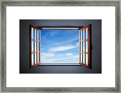 Let The Blue Sky In Framed Print by Carlos Caetano