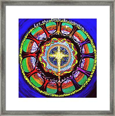 Let The Circle Be Unbroken Framed Print
