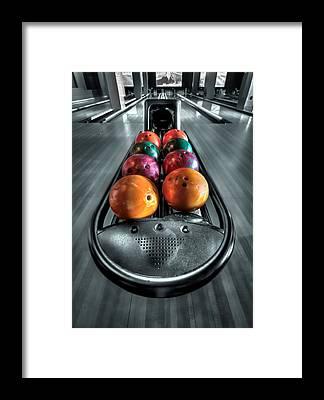 bowling alley framed prints