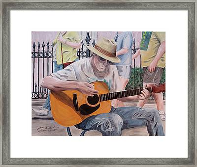 Let The Good Times Roll-new Orleans Blues Framed Print by Kevin Callahan