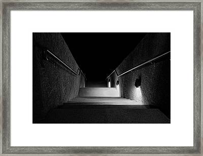 Let The Light Guide Your Way Framed Print by Lucinda Walter