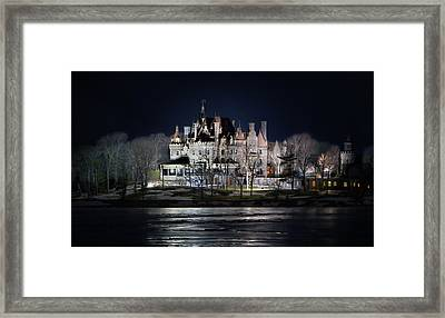 Let The Light On Framed Print