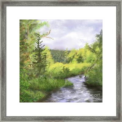 Let The Light Shine In. Framed Print