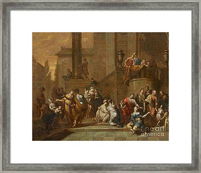 Let The Little Children Come To Me Christ Healing The Paralytic Framed Print by MotionAge Designs