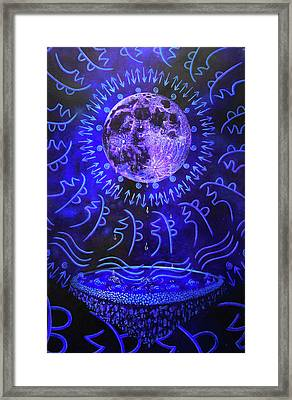 Let The Moon Cry  Framed Print