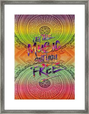 Let The Music Set You Free Rainbow Opera Garnier Paris Framed Print by Beverly Claire Kaiya