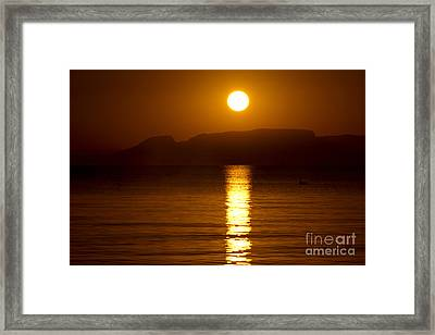 Let The Rays Shine Through Him Framed Print