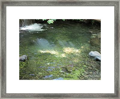 Framed Print featuring the photograph Let The Sunshine by Marie Neder