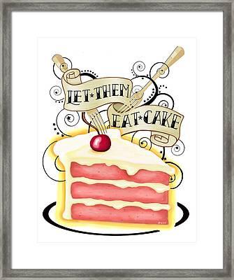 Let Them Eat Cake Framed Print by Little Bunny Sunshine