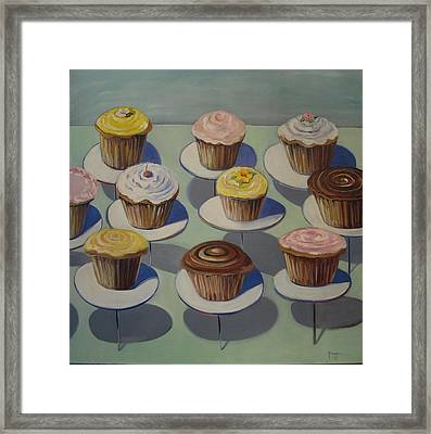 Let Them Eat Cupcakes Framed Print by Yvonne Dagger