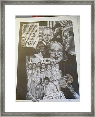 Let There Be Justice Framed Print by Stacey Hall