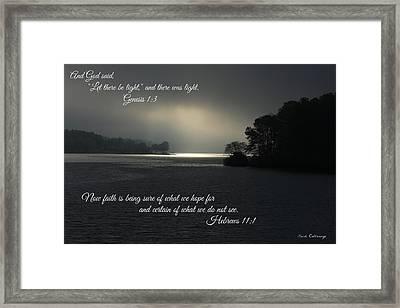 Let There Be Light Bible Art Scripture Art Framed Print