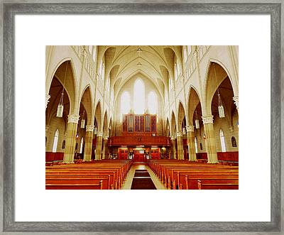 Let There Be Light Framed Print by Karen Cook