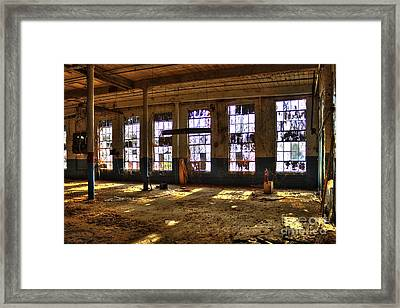 Let There Be Light Mary Leila Cotton Mill 1899 Framed Print by Reid Callaway