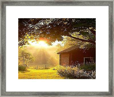 Let There Be Light Framed Print by Rod Jellison