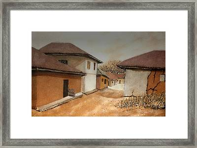 Let There Be Peace In Our Land Framed Print by Bankole Abe