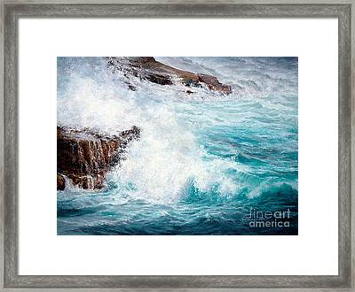 Let There Be Waves Framed Print by Candace D Fenander
